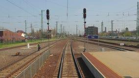 Άποψη ταξιδιού σιδηροδρόμων απόθεμα βίντεο