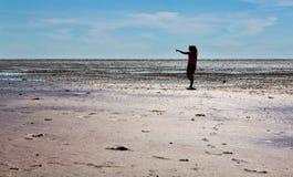 Άποψη της άσπρης θάλασσας από τους λόφους στοκ φωτογραφία με δικαίωμα ελεύθερης χρήσης