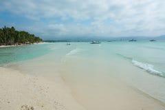 Άποψη της άσπρης παραλίας, Boracay, Φιλιππίνες Στοκ φωτογραφία με δικαίωμα ελεύθερης χρήσης