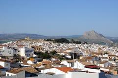 Άποψη της άσπρης πόλης, Antequera, Ανδαλουσία. Στοκ εικόνα με δικαίωμα ελεύθερης χρήσης