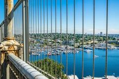 Άποψη της ένωσης λιμνών από τη γέφυρα αυγής Στοκ Φωτογραφία