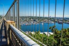 Άποψη της ένωσης λιμνών από τη γέφυρα αυγής Στοκ Εικόνες