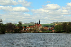 Άποψη της λίμνης κοντά στην πόλη Velehrad στοκ φωτογραφία με δικαίωμα ελεύθερης χρήσης