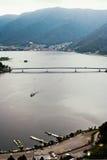 Άποψη κόλπων λιμνών ΑΜ Φούτζι Στοκ εικόνες με δικαίωμα ελεύθερης χρήσης