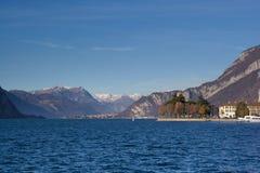 Άποψη της λίμνης Como από Lecco, Ιταλία στοκ φωτογραφία με δικαίωμα ελεύθερης χρήσης