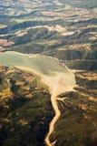 Άποψη της λίμνης Corbara (Ιταλία) στοκ φωτογραφία