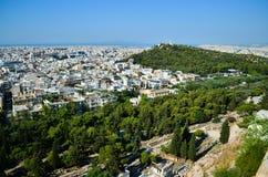 Άποψη της Αθήνας Στοκ Εικόνες
