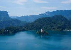 Αιμορραγημένα λίμνη και νησί, Σλοβενία, Ευρώπη στοκ εικόνες με δικαίωμα ελεύθερης χρήσης