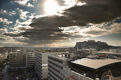 Άποψη της ακρόπολη από τη πλατεία Συντάγματος Στοκ Εικόνες