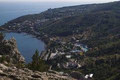 Άποψη της ακτής από το υποστήριγμα Koshka Στοκ Εικόνες