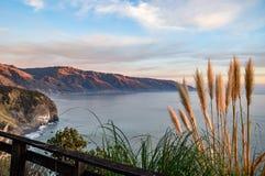Άποψη της ακτής νότιου μεγάλης Sur σε Καλιφόρνια Στοκ Εικόνες