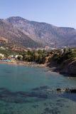 Άποψη της ακτής στο νησί της Κρήτης στοκ εικόνες