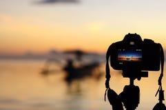 Άποψη της ανατολής που πυροβολείται από μια κάμερα Στοκ Εικόνες