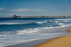 Άποψη της αποβάθρας αλιείας στην αυτοκρατορική παραλία, Καλιφόρνια Στοκ εικόνες με δικαίωμα ελεύθερης χρήσης