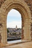 Άποψη της αποβάθρας des Carmes από τη Angers Castle Στοκ φωτογραφίες με δικαίωμα ελεύθερης χρήσης