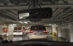 Άποψη της αποβίβασης αυτοκινήτων Στοκ Εικόνες