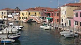 Άποψη της αρχαίας γέφυρας στο νησί Murano Ιταλία Βενετία φιλμ μικρού μήκους
