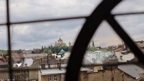Άποψη της αρχιτεκτονικής σε Lviv φιλμ μικρού μήκους