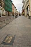 Άποψη της αλέας των αυτόγραφων στην οδό Dluga σε Bydgoszcz στοκ φωτογραφία με δικαίωμα ελεύθερης χρήσης