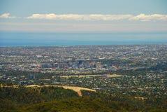Άποψη της Αδελαΐδα από το υποστήριγμα υψηλό Νότια Αυστραλία Αυστραλοί Στοκ Εικόνες