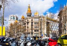 Άποψη της Βαρκελώνης, Ισπανία Στοκ Εικόνες