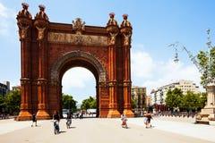 Άποψη της Βαρκελώνης, Ισπανία. Arc del Triomf Στοκ εικόνες με δικαίωμα ελεύθερης χρήσης