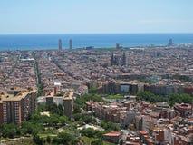 Άποψη της Βαρκελώνης Στοκ Εικόνες