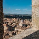 Άποψη της βασιλικής του SAN Francesco, Σιένα, Ιταλία Στοκ Εικόνες