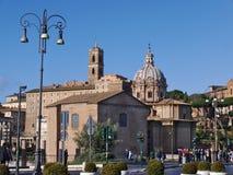 Άποψη της βασιλικής Santi Luca ε Martina στη Ρώμη στο πρωί Ιταλία Στοκ εικόνα με δικαίωμα ελεύθερης χρήσης