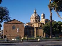 Άποψη της βασιλικής Santi Luca ε Martina στη Ρώμη στο πρωί Ιταλία Στοκ Εικόνες