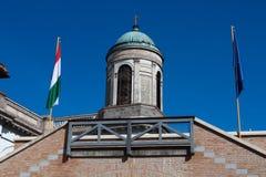 Άποψη της βασιλικής του ST Adalbert σε Esztergom Στοκ Φωτογραφία