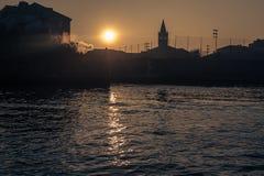 Άποψη της Βενετίας από το κανάλι Στοκ φωτογραφία με δικαίωμα ελεύθερης χρήσης