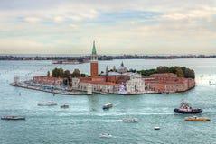 Άποψη της Βενετίας με μια πανοραμική θέα Στοκ Εικόνα