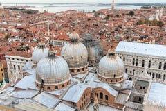 Άποψη της Βενετίας με μια πανοραμική θέα Στοκ εικόνα με δικαίωμα ελεύθερης χρήσης
