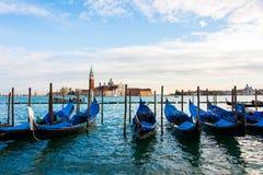 Άποψη της Βενετίας σχετικά με έναν φωτεινό Στοκ Εικόνες