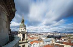 Άποψη της Βουδαπέστης που λαμβάνεται από την κορυφή της βασιλικής του ST Stephen, Ουγγαρία Στοκ εικόνες με δικαίωμα ελεύθερης χρήσης