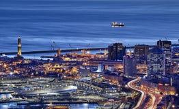 Άποψη της Γένοβας, Ιταλία Στοκ εικόνες με δικαίωμα ελεύθερης χρήσης