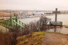 άποψη της γέφυρας ελευθερίας Στοκ Φωτογραφία