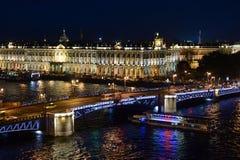 Άποψη της γέφυρας παλατιών στη Αγία Πετρούπολη Στοκ Φωτογραφίες
