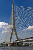 Άποψη της γέφυρας στον ποταμό Chao Phraya, Μπανγκόκ Στοκ Εικόνες