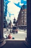 Άποψη της Γλασκώβης από τη στοά της σύγχρονης τέχνης, Γλασκώβη, Σκωτία, 01 08 2017 στοκ εικόνα