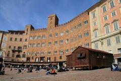 Άποψη της γοτθικής πόλης της Σιένα, Ιταλία Στοκ Εικόνα