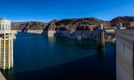 Άποψη της δεξαμενής υδρομελιών λιμνών από το φράγμα Hoover Στοκ εικόνα με δικαίωμα ελεύθερης χρήσης