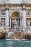 Άποψη της διάσημης πηγής TREVI στη Ρώμη, Ιταλία Στοκ Εικόνες