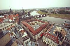 Άποψη της Δρέσδης και του ποταμού Elbe Στοκ Φωτογραφίες