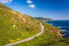 Άποψη της εθνικής οδού και του Ειρηνικού Ωκεανού Pacific Coast Στοκ εικόνα με δικαίωμα ελεύθερης χρήσης