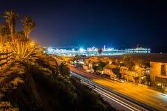 Άποψη της εθνικής οδού Pacific Coast τη νύχτα, από το πάρκο περιφραγμάτων Στοκ εικόνες με δικαίωμα ελεύθερης χρήσης