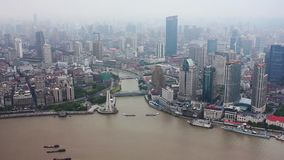 Άποψη της εικονικής παράστασης πόλης της Σαγγάης, Σαγκάη, Κίνα φιλμ μικρού μήκους