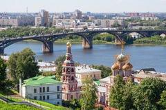 Άποψη της εικονικής παράστασης πόλης Nizhny Novgorod Στοκ Εικόνα
