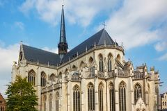 Άποψη της εκκλησίας Αγίου Peter ` s του Λουβαίν, φλαμανδική Βραβάνδη, Βέλγιο Στοκ Φωτογραφίες